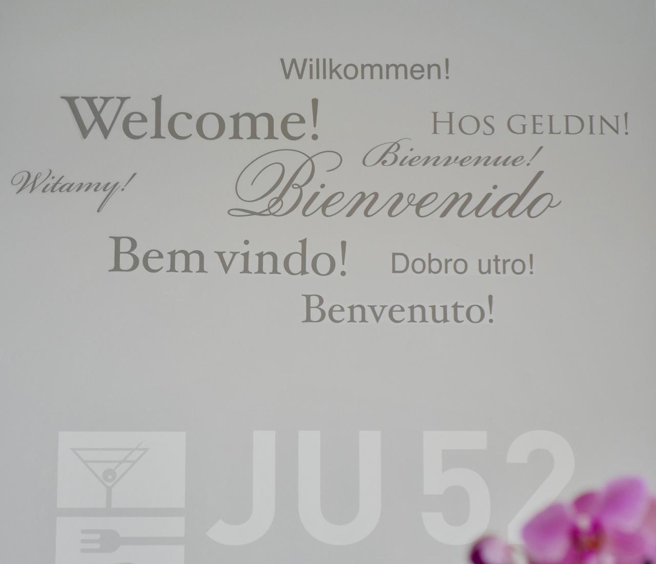willkommen welcome bienvenue